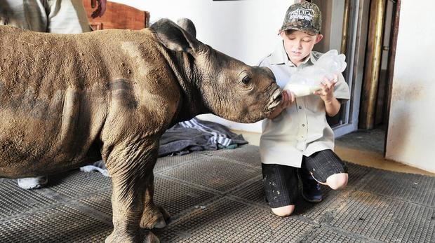 Boy proves nobody is too young to save rhinos