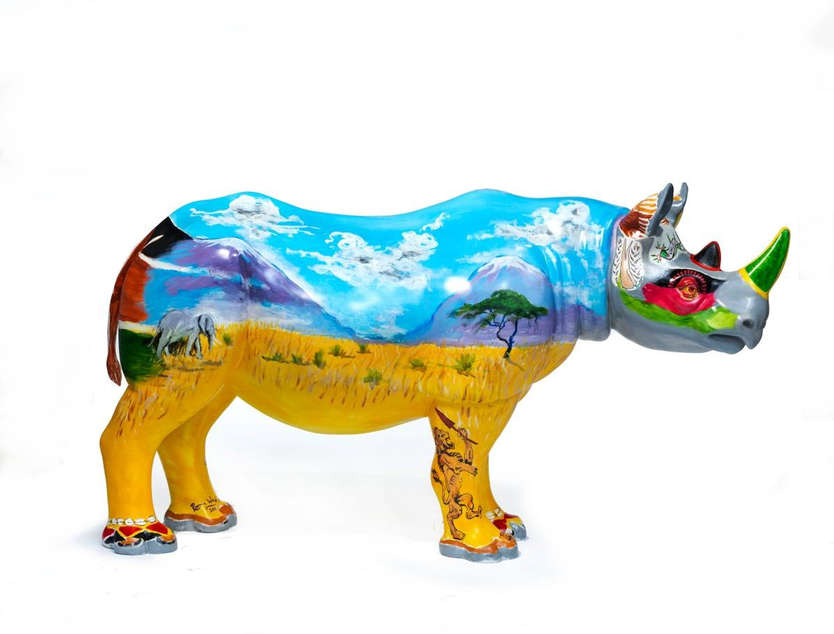 Ronnie Wood Contributes Painting Skills To Help Save The Rhinos
